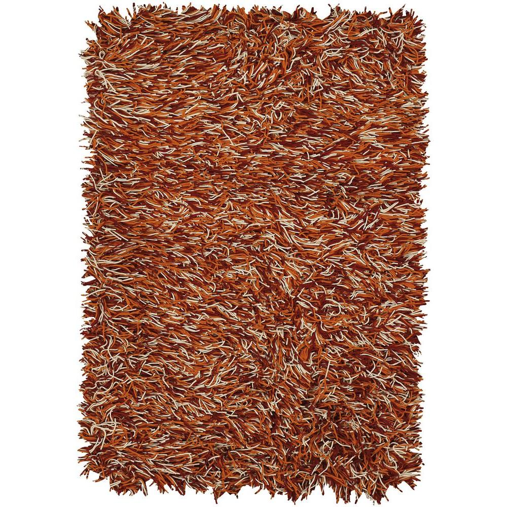 Chandra Cyrah Red/Orange/Ivory 7 ft. 9 in. x 10 ft. 6 in. Indoor Area Rug