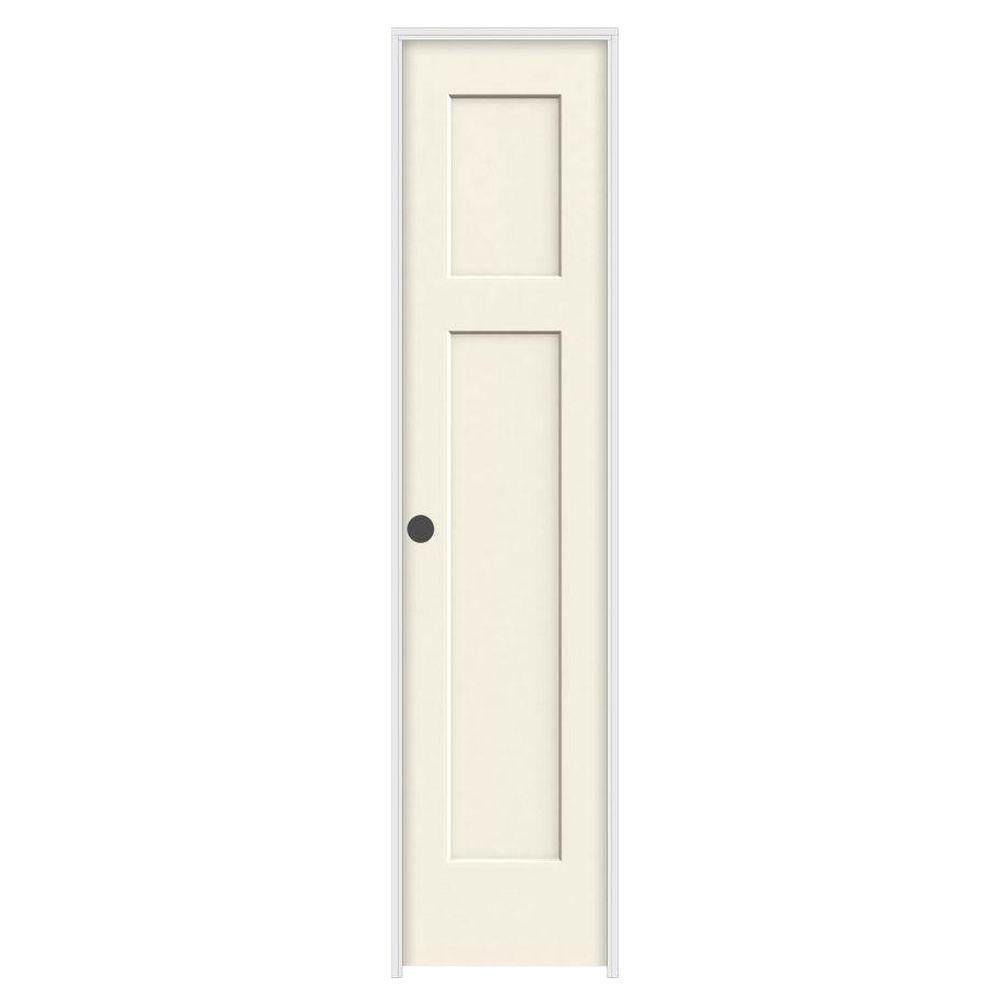 18 In X 80 Craftsman Vanilla Painted Right Hand Smooth Molded Composite Mdf Single Prehung Interior Door