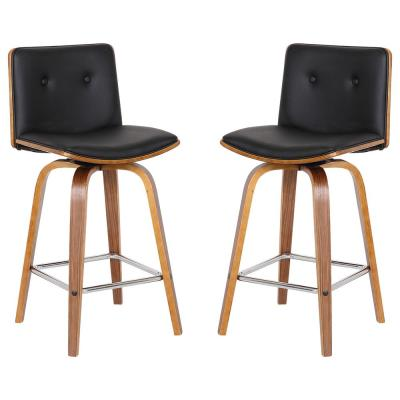 Summer 26 in. Black Barstool (Set of 2)