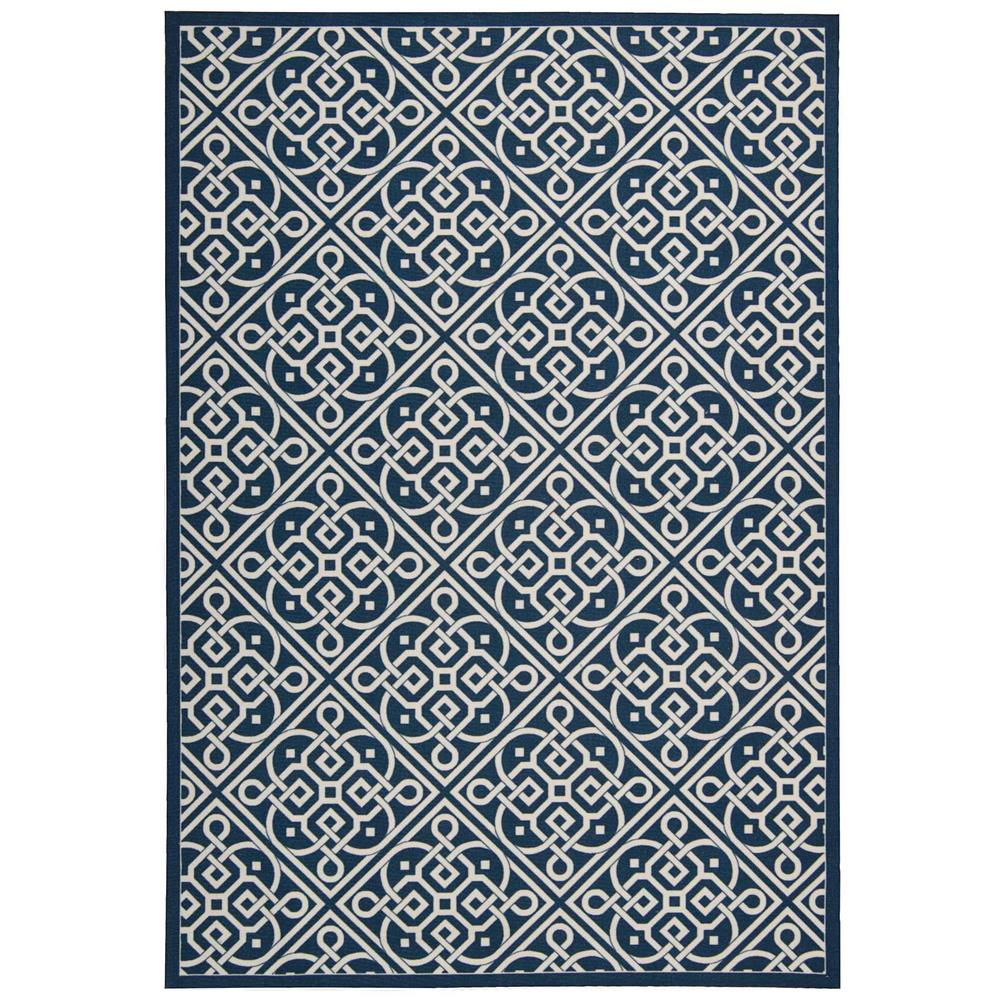 Lace It Up Navy 10 ft. x 13 ft. Indoor/Outdoor Area