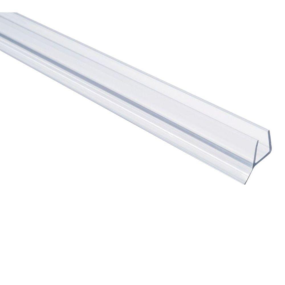 98 in. L Frameless Shower Door Seal for 3/8 Glass