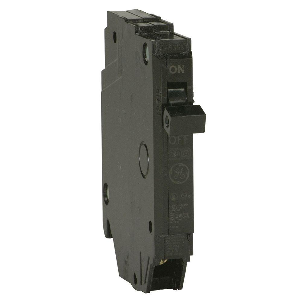 GE Q-Line 15 Amp 1/2 in. Single-Pole Circuit Breaker-THQP115 - The ...