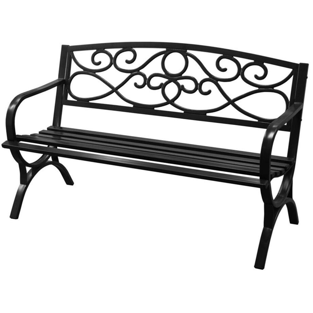4 ft. Steel Outdoor Patio Bench