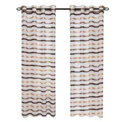 Taupe Sonya Grommet Curtain Panel, 108 in. Length