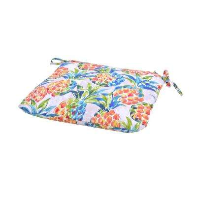 Pineapples Square Outdoor Seat Cushion