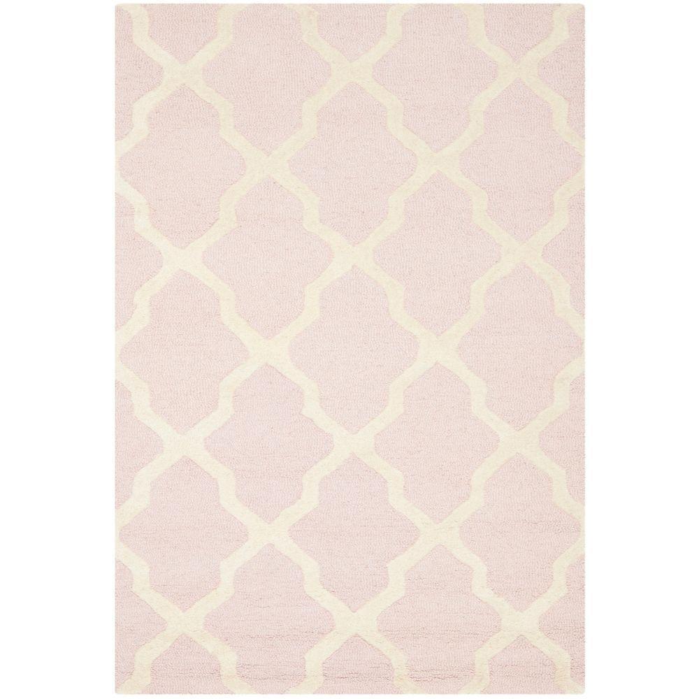 Attractive Safavieh Cambridge Light Pink/Ivory 5 Ft. X 8 Ft. Area Rug