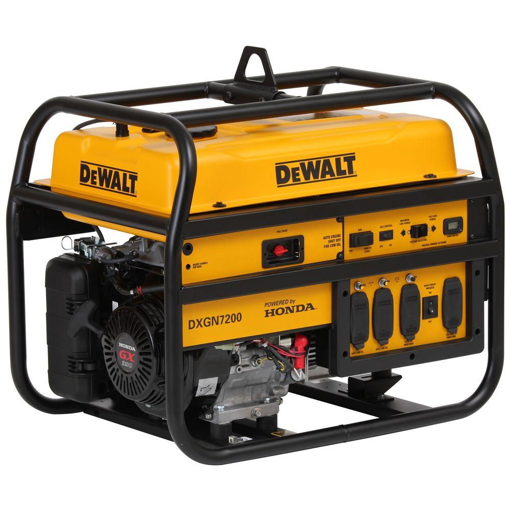 4500-Watt Gasoline Powered Electric/Manual Start Portable Generator with Honda