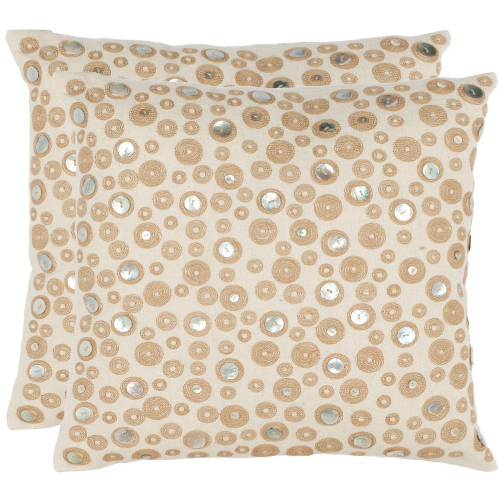 Safavieh Starlette Embellished Pillow (2-Pack), Ivory