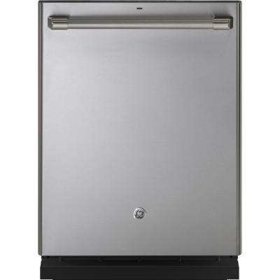 GE Cafe Top Control Dishwasher in Stainless Steel with Stainless Steel Tub and Bottle Jets by GE