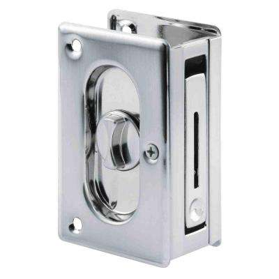 3-3/4 in. Satin Nickel Pocket Door Privacy Latch