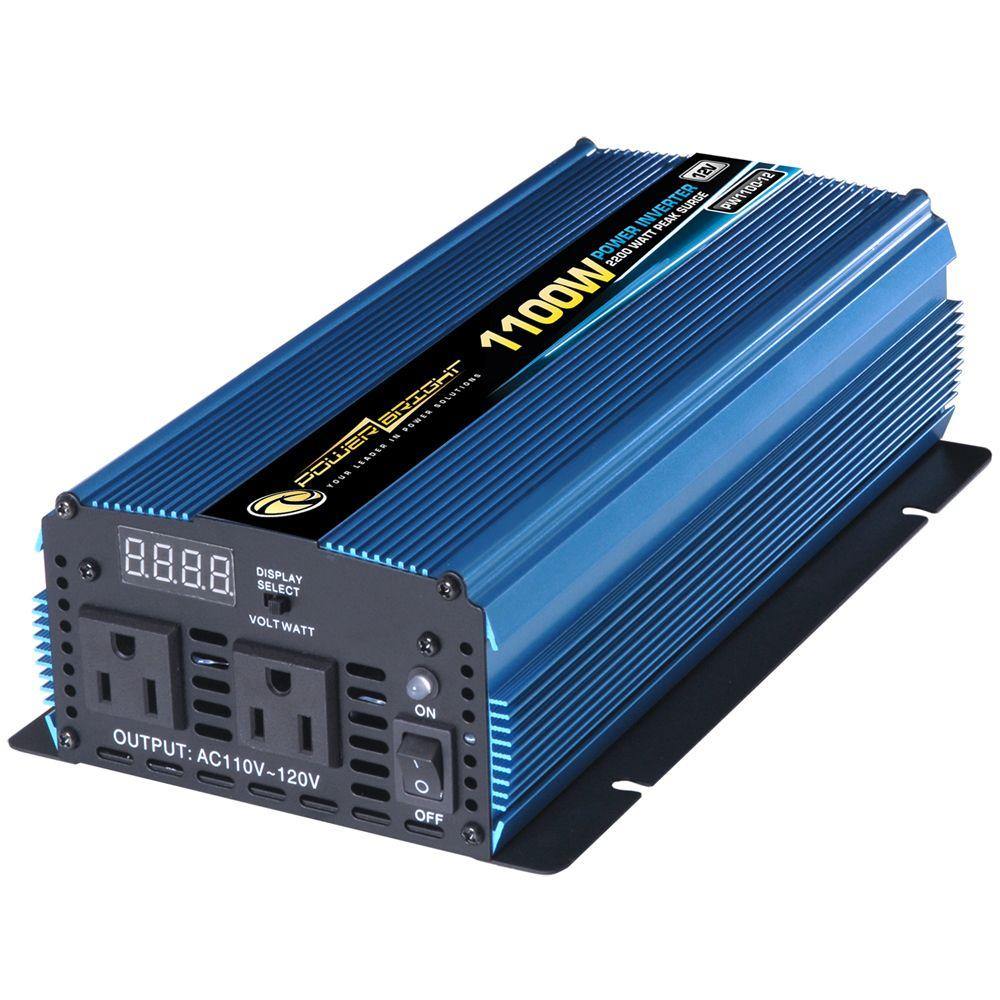 12 Volt DC to AC 1100-Watt Power Inverter
