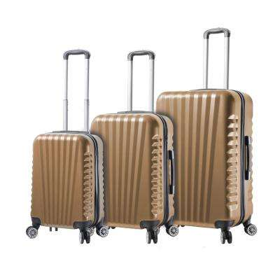Catania 3-Piece Champagne Spinner Luggage Set