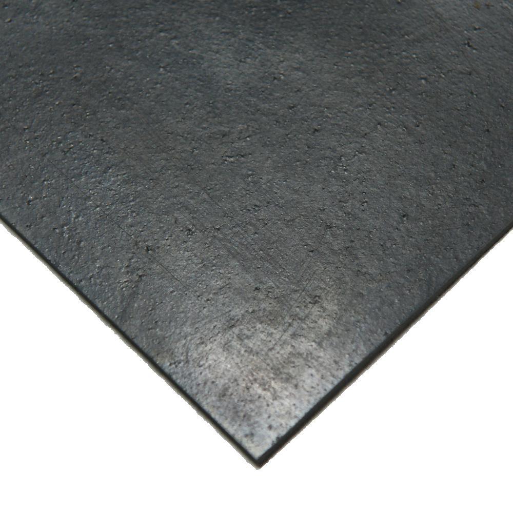 Nitrile 1/2 in. x 8 in. x 8 in. Commercial Grade 60A Black Buna Sheets