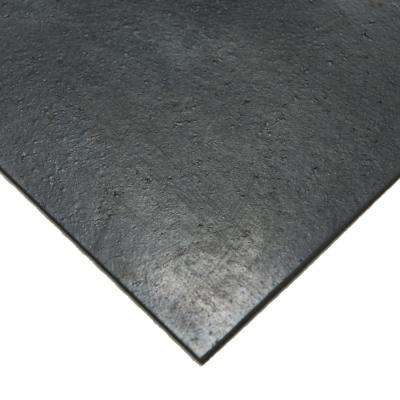 Nitrile 1/2 in. x 8 in. x 8 in. Commercial Grade 60A Black Buna Sheets