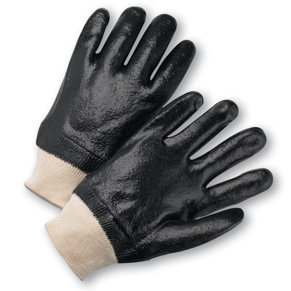 Semi Rough PVC Fully Coated Interlock Lined Gloves - Dozen Pair
