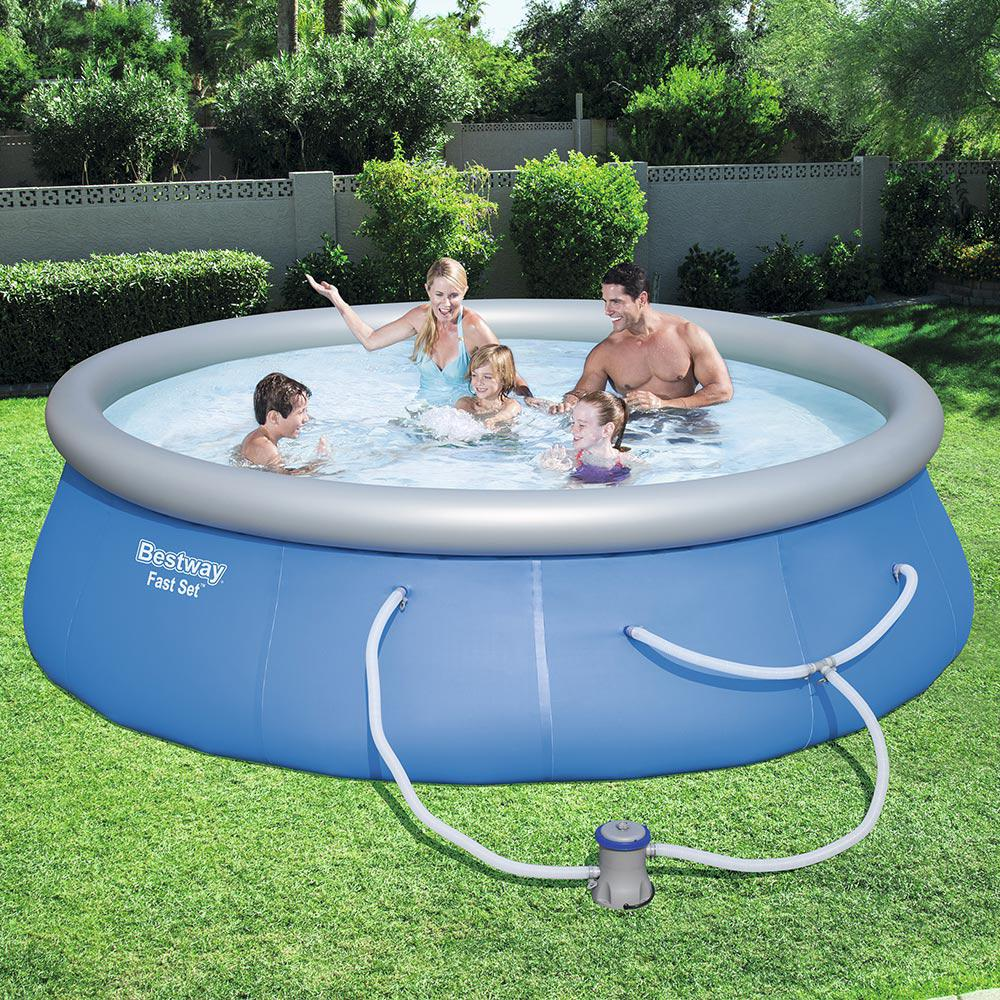Bestway fast set 13 ft round x 33 in deep inflatable - Swimming pool filter manufacturers ...