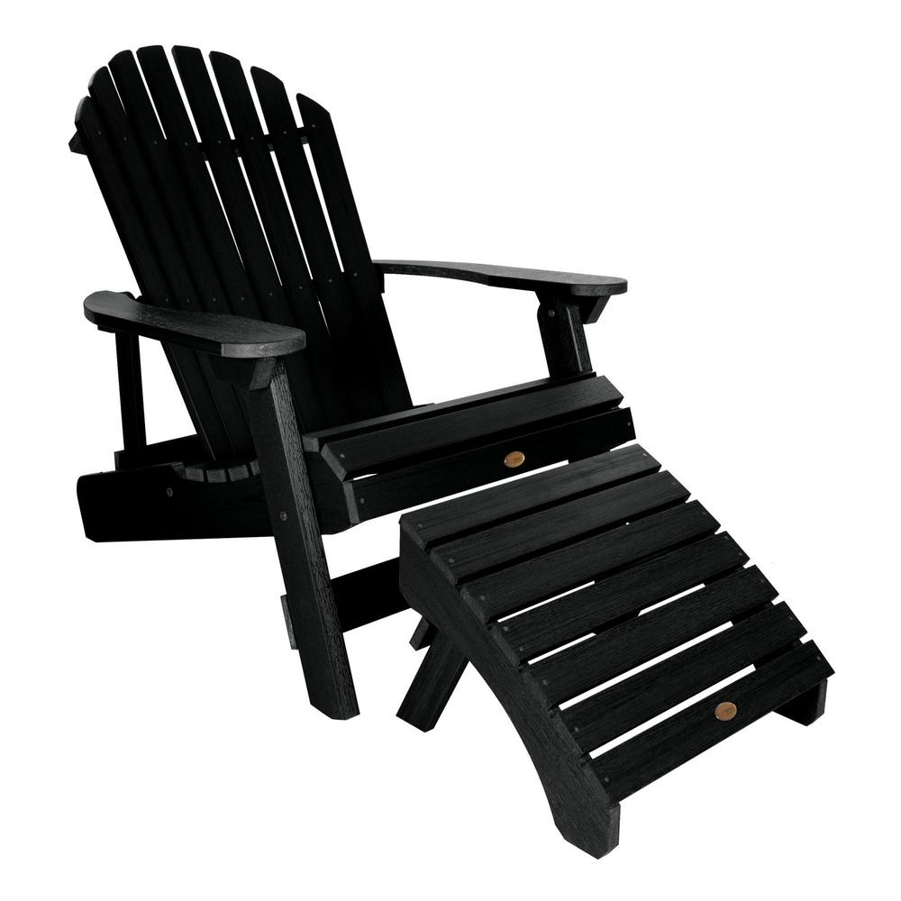 Superb Highwood King Hamilton Black 2 Piece Recycled Plastic Outdoor Seating Set Creativecarmelina Interior Chair Design Creativecarmelinacom