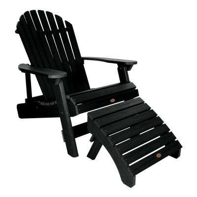 King Hamilton Black 2-Piece Recycled Plastic Outdoor Seating Set