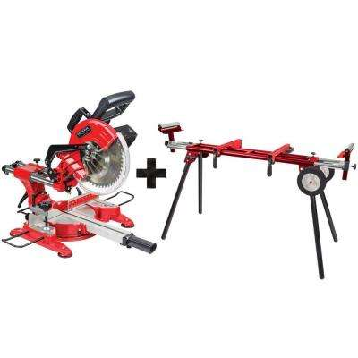 15 Amp 10 in. Sliding Miter Saw with Bonus Heavy-Duty Miter Saw Stand