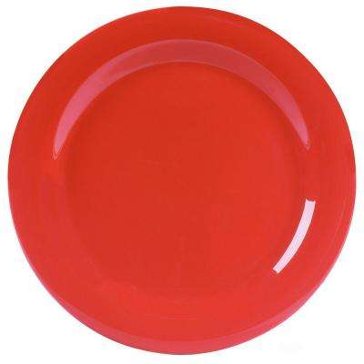 10.5 in. Diameter Melamine Narrow Rim Dinner Plate in Sunset Orange (Case of 12)