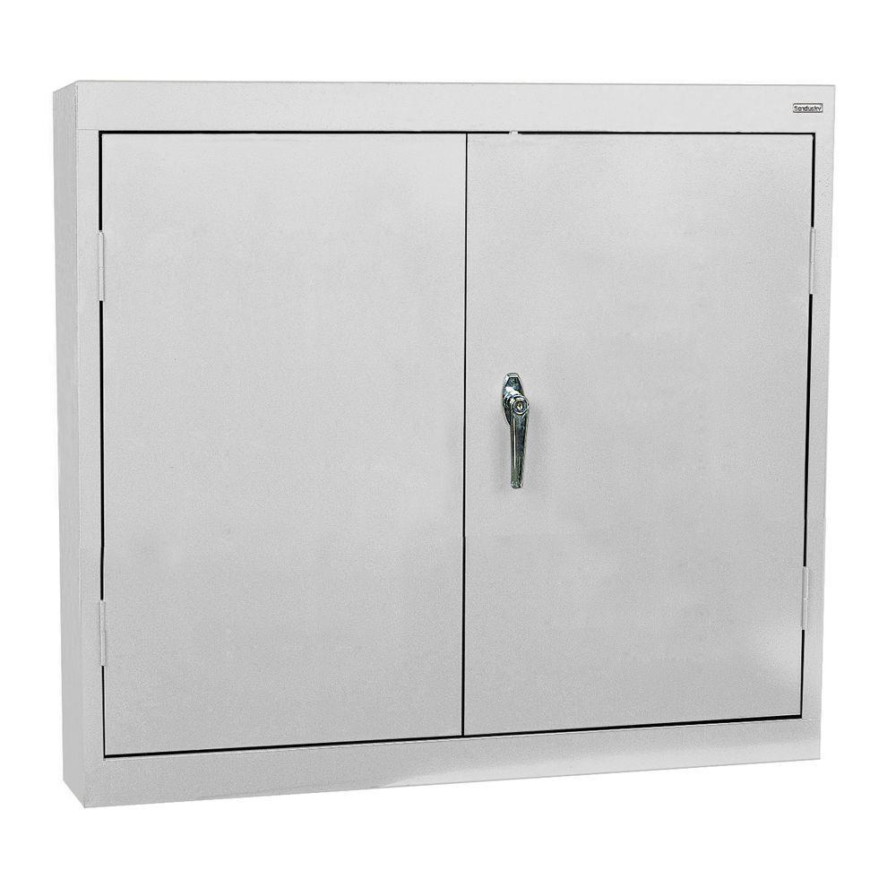 Sandusky 30 in. H x 30 in. W x 12 in. D Wall Cabinet in Dove Grey