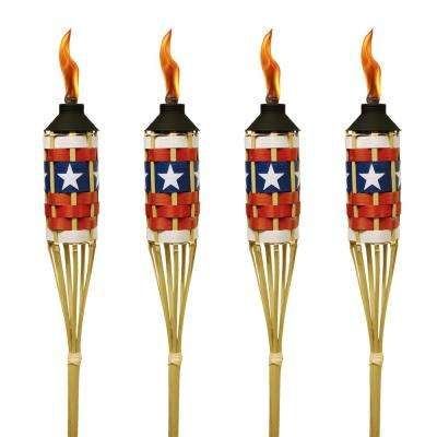 57 in. Bamboo Americana Torch (4-Pack)