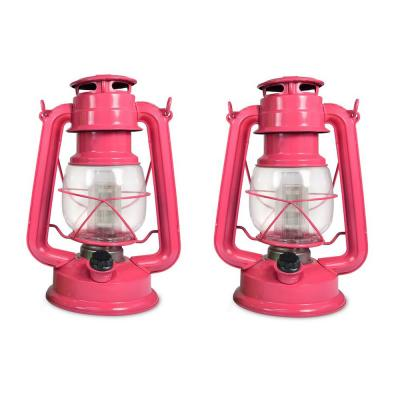 Tropical Collection Pink Flamingo Battery Operated LED Vintage Lantern (2-Pack)