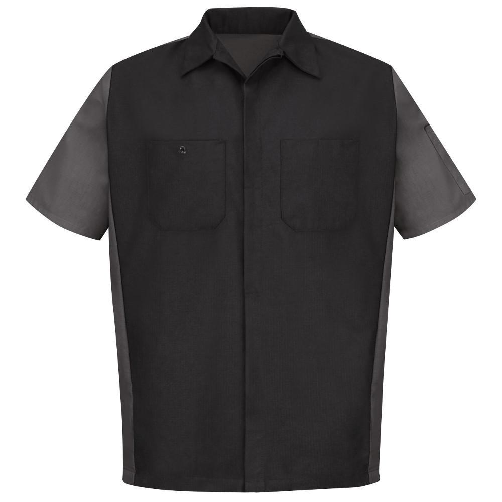 Men's X-Large Black/Charcoal Crew Shirt