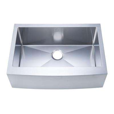 NationalWare Apron/Farmhouse Stainless Steel 30 in. Single Bowl Kitchen Sink in Stainless Steel