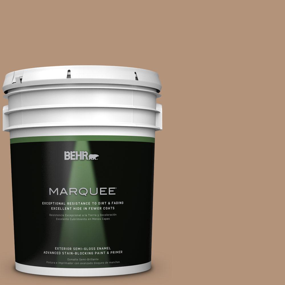 5 gal. #HDC-FL14-6 Gingerbread Latte Semi-Gloss Enamel Exterior Paint