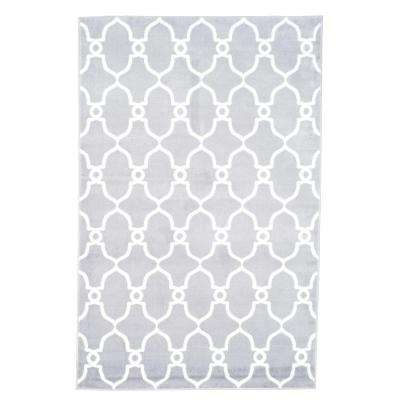 Lattice Grey 5 ft. x 8 ft. Area Rug