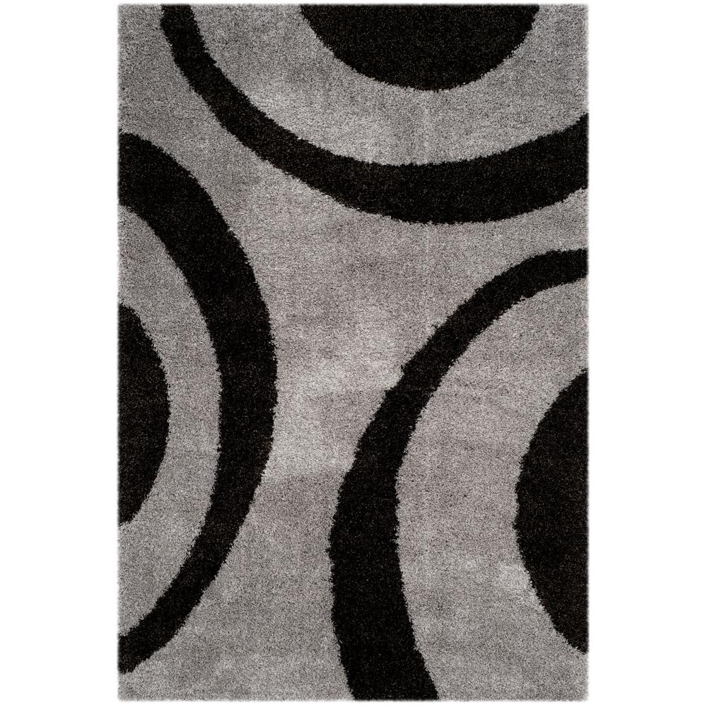 Safavieh Portofino Shag Gray/Black 6 ft. 7 in. x 9 ft. 2 ...