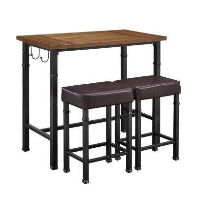 Austin 3 Piece Rustin Brown Bar Table Set