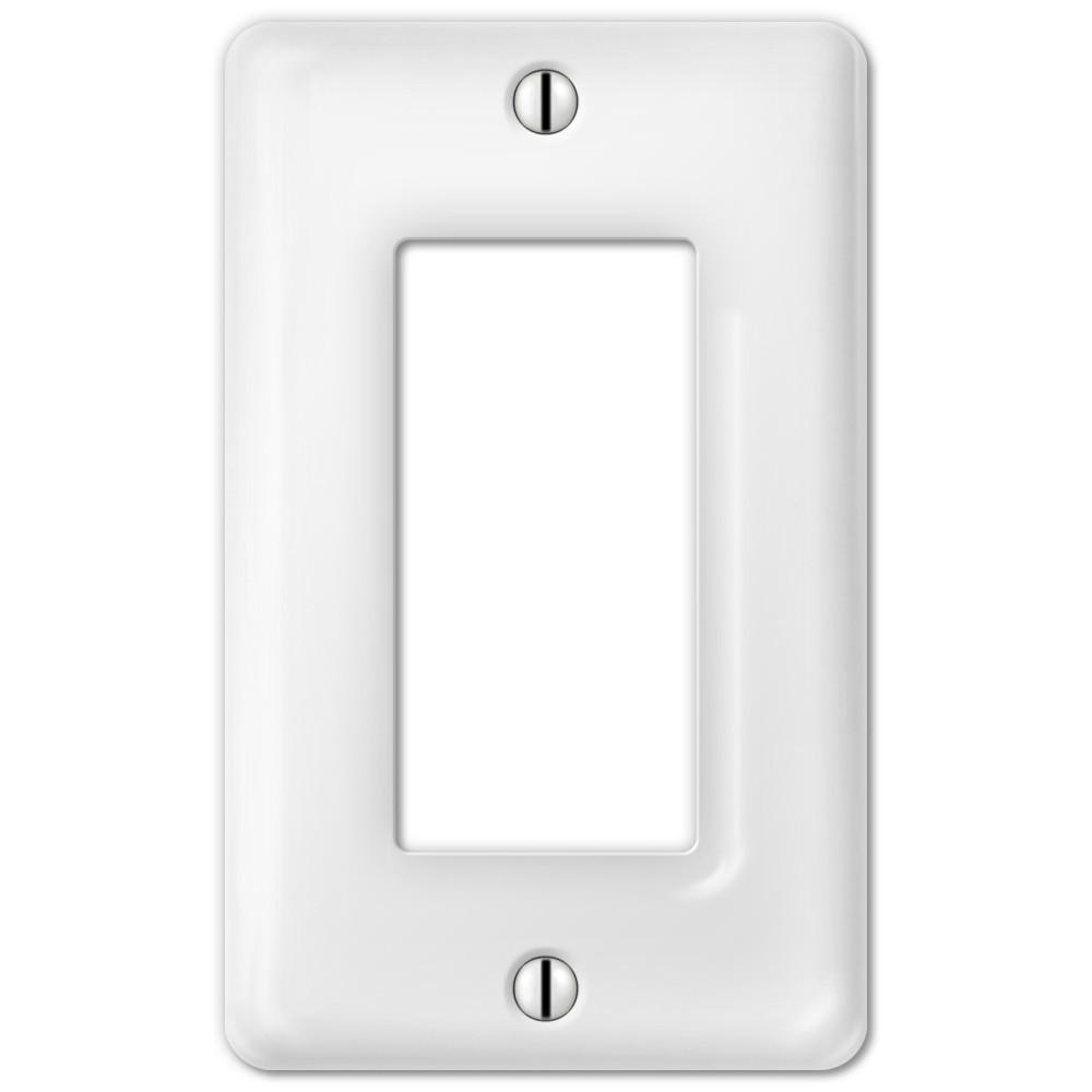Amerelle Classic Ceramic 1 Decora Wall Plate White 3020rw The Switch Style Choose On Off Rocker
