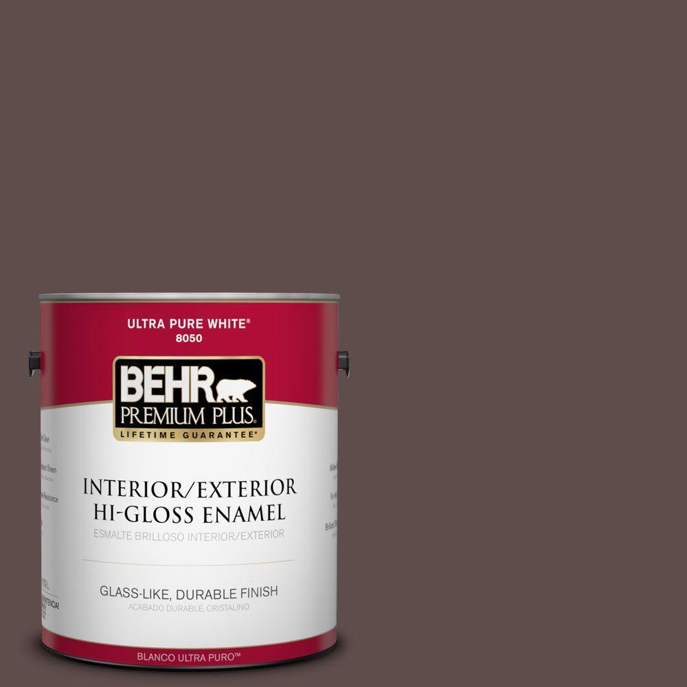 1-gal. #720B-7 Spanish Raisin Hi-Gloss Enamel Interior/Exterior Paint