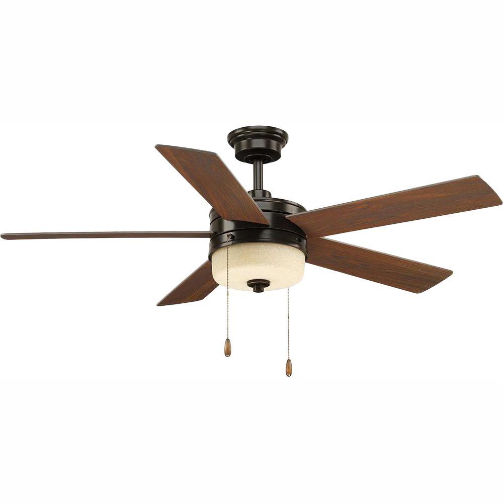 Progress Lighting Verada 54 in. LED Indoor Antique Bronze Ceiling Fan with Light Kit