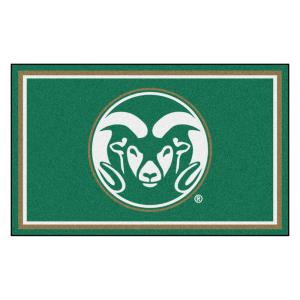 NCAA - Colorado State University Green 4 ft. x 6 ft. Area Rug