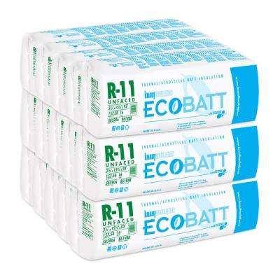 R-11 Unfaced Fiberglass Insulation EcoBatt 3-1/2 in. x 15-1/4 in. x 93 in. (15-Bags)