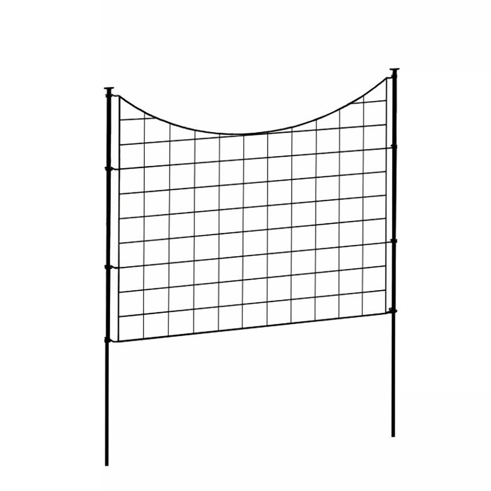 Delicieux H X 2.46 Ft W Zippity Black Metal Garden Fence Panel With Stakes