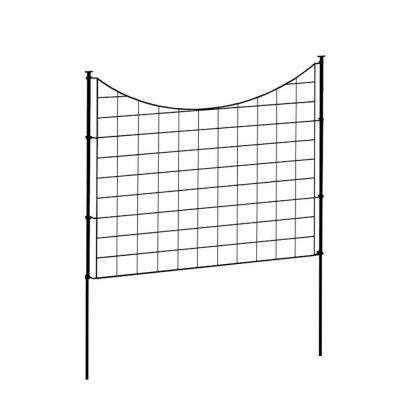 Zippity Black Metal Garden Fence (5 pack)