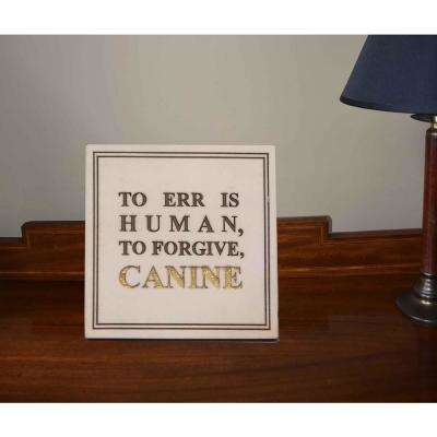 Forgive Canine Faux Marble Wall Plaque