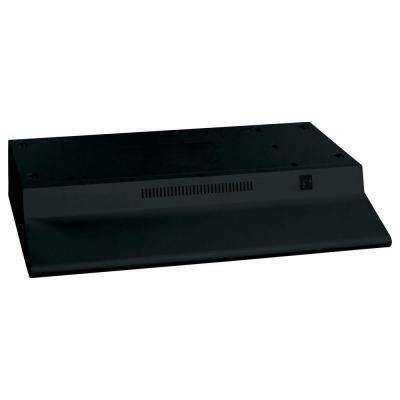 30 in. Non-Vented Range Hood in Black