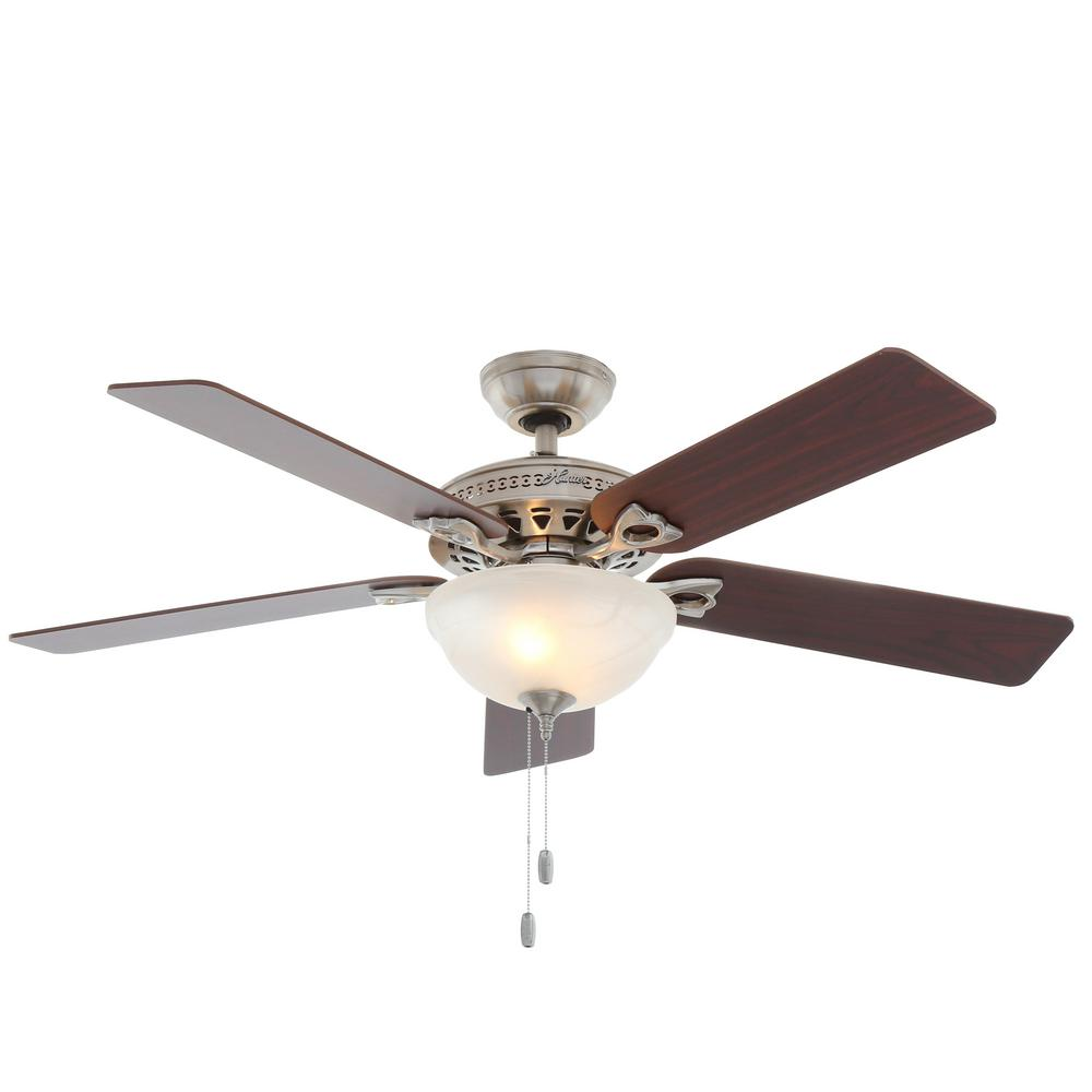 Hunter astoria 52 in indoor brushed nickel ceiling fan with light hunter astoria 52 in indoor brushed nickel ceiling fan with light kit aloadofball Images