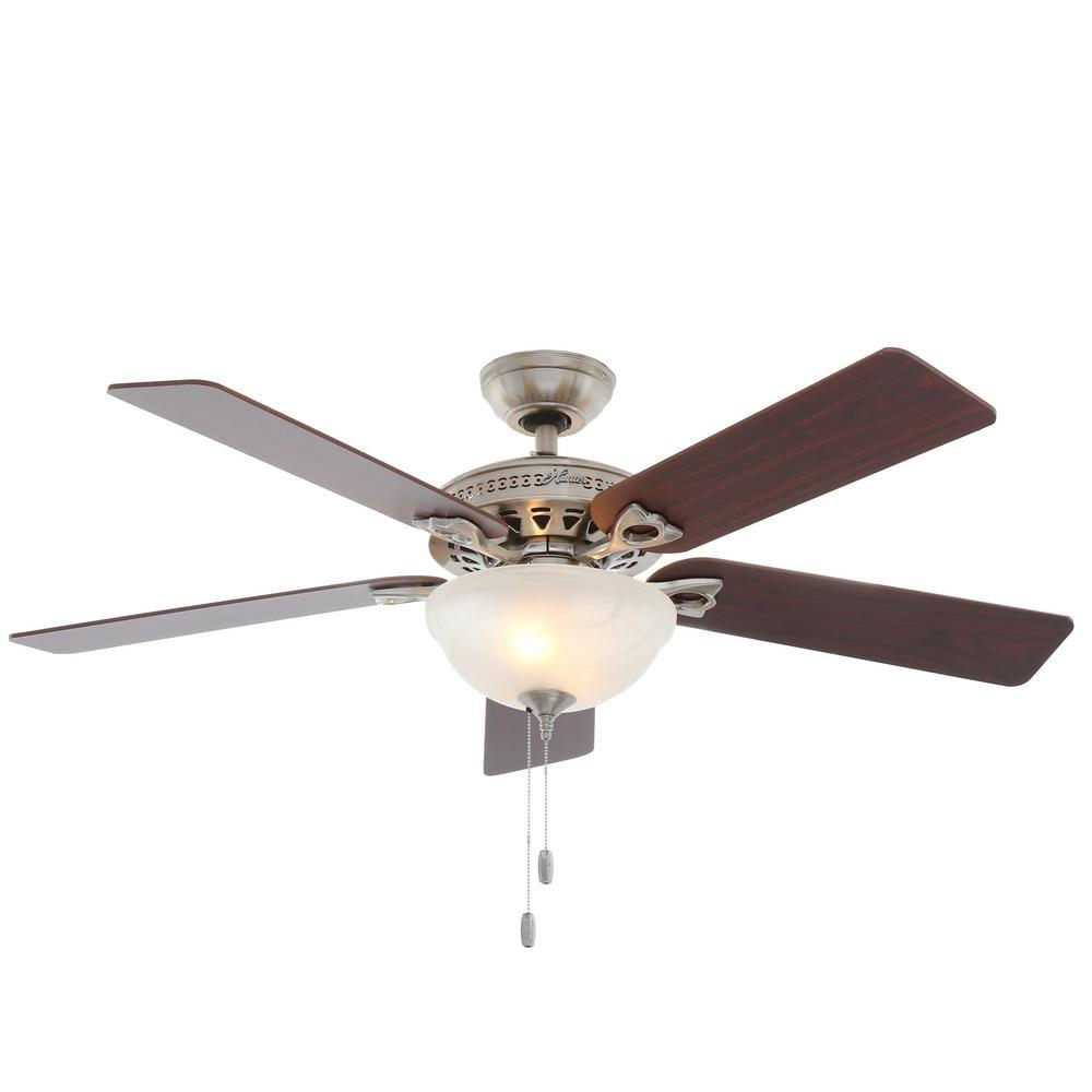Astoria 52 in. Indoor Brushed Nickel Ceiling Fan with Light Kit