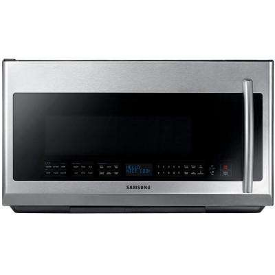 30 in. 2.1 cu. ft. Over the Range Microwave in Stainless Steel with Sensor Cooking and LED Cooktop Lighting