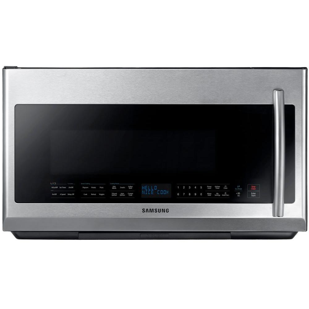 Samsung 30 In 2 1 Cu Ft Over The Range Microwave Stainless Steel