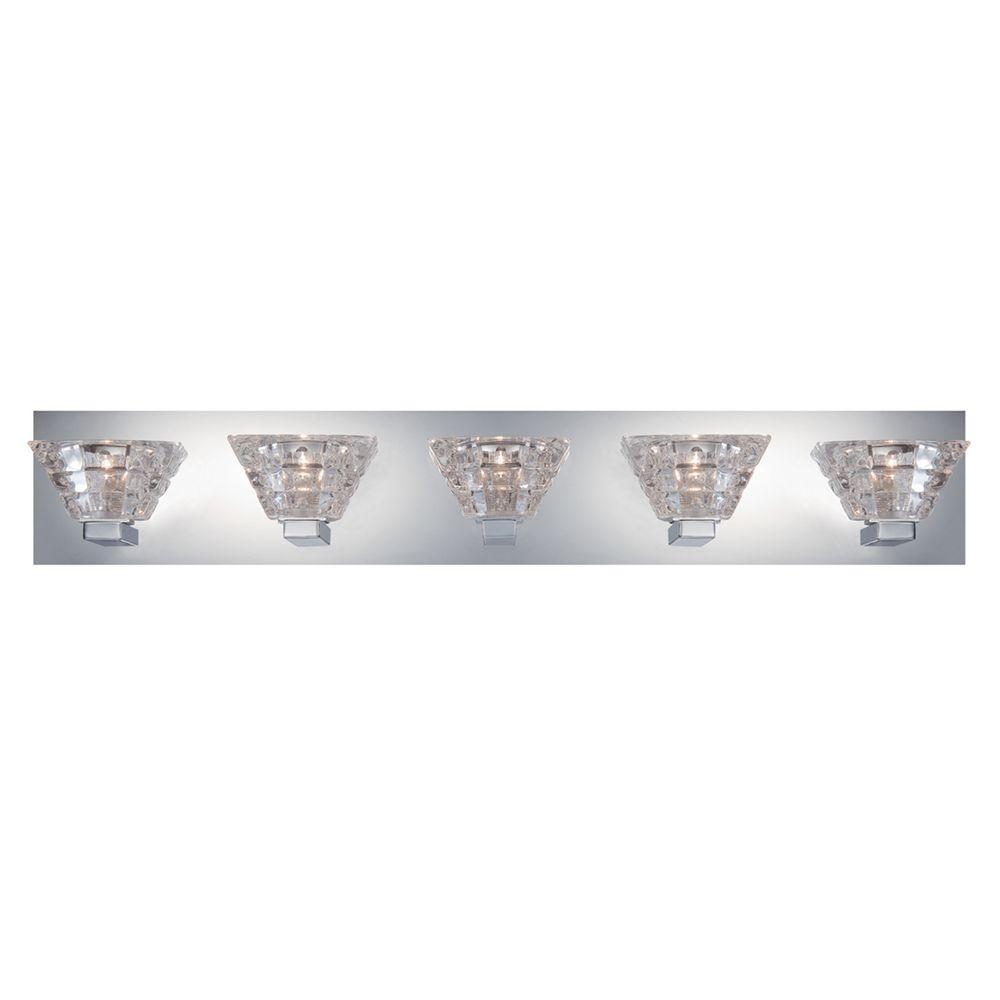 Zilli Collection 5-Light Chrome Bath Bar Light