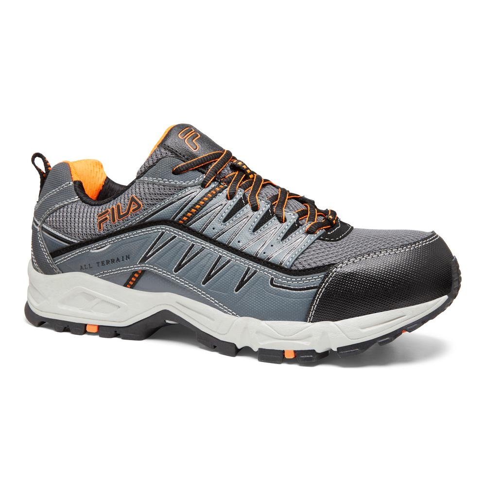 Fila Men's Memory At Peak Athletic Shoes Composite Toe CastlerockBlack Size 7.5(M)