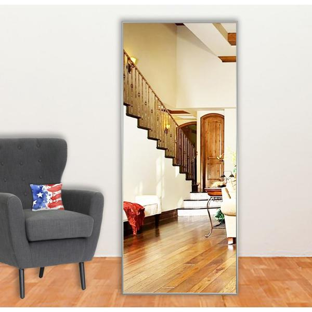 58.125 in. x 20.125 in. Charlie Satin Silver Full Body Vanity