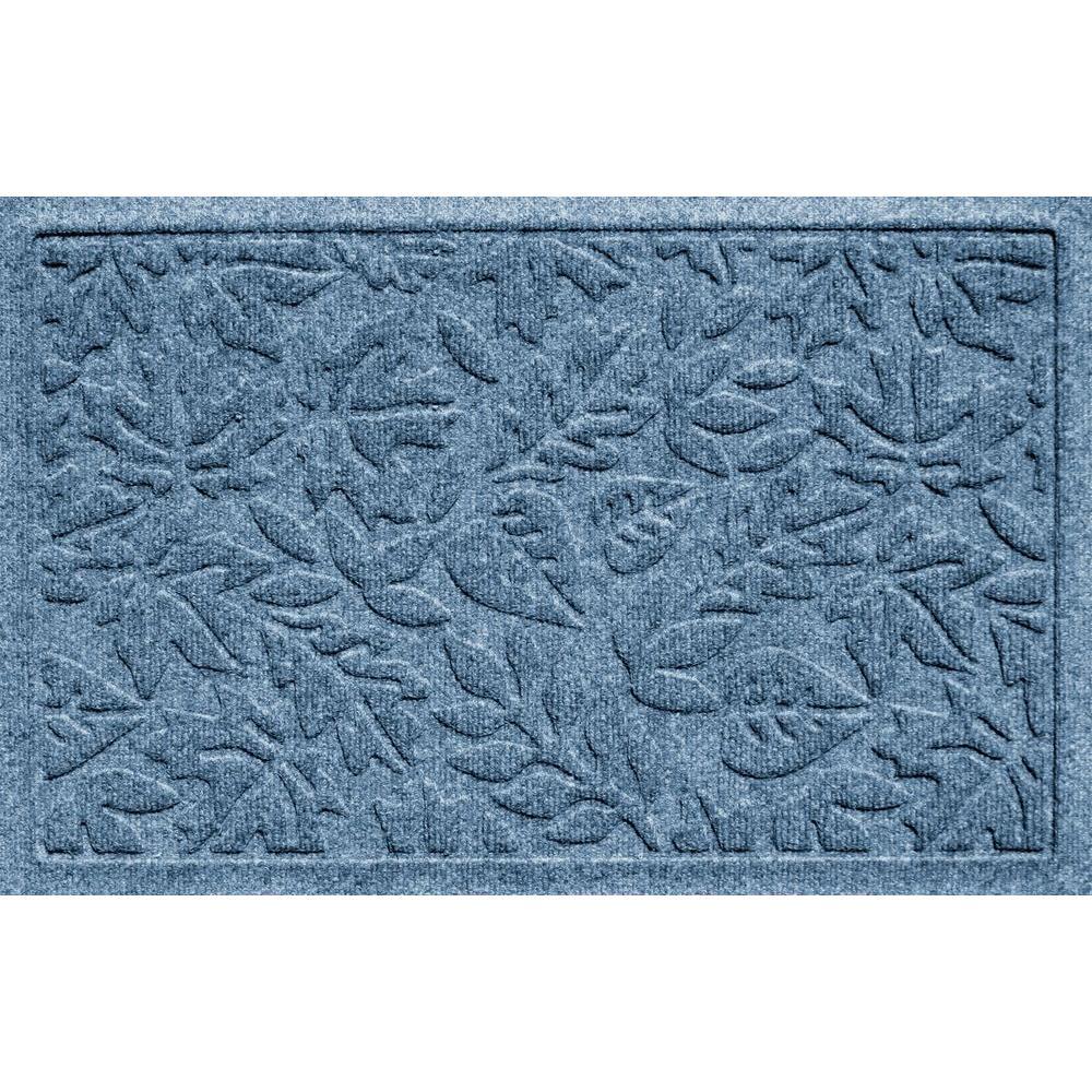 Aqua Shield Fall Day Bluestone 17.5 in. x 26.5 in. Door Mat